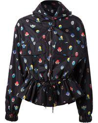 Stella McCartney Hooded Superhero Print Wind Jacket - Lyst
