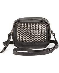 Burberry Studded Leather Crossbody Bag - Lyst