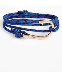 Miansai Rose Gold Hook Rope Bracelet - Lyst