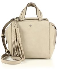Tory Burch | Tasseled Leather Cube Satchel | Lyst