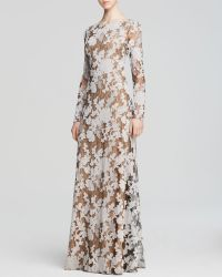 Vera Wang Gown - Embroidered Floral Overlay - Lyst