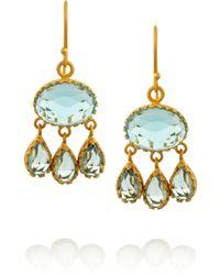 Kevia - Goldplated Topaz Drop Earrings - Lyst