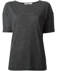 T By Alexander Wang Scoop Neck T-shirt - Lyst