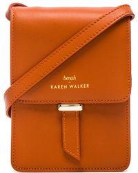 Karen Walker Lydia Mini Crossbody orange - Lyst
