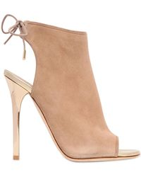 Jimmy Choo 115Mm Flume Suede Cage - Lyst