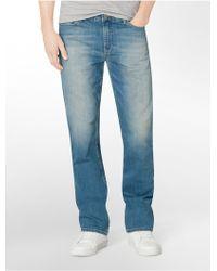 Calvin Klein Jeans Straight Leg Silver Bullet Light Wash Jeans blue - Lyst