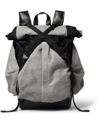 Christopher Raeburn - Aruck Leather and Canvas Backpack - Lyst