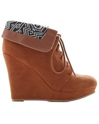 East Lion Corp./qupid Telluride A Story Bootie In Cinnamon - Lyst