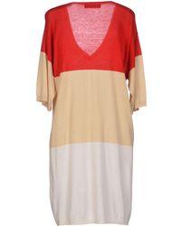 Max Mara Studio Beige Short Dress - Lyst