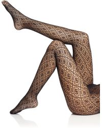 Wolford Black Daphne Tights - Lyst