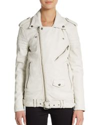 BLK DNM Belted Leather Moto Jacket - Lyst