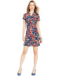 Karen Kane Brush Stroke Wrap Dress multicolor - Lyst