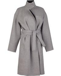 Issa Robbie Ripple Wool Coat - Lyst