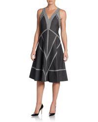 Donna Karan New York Jersey-Back Pieced Dress - Lyst