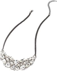 Forever 21 Faceted Faux Gem Cluster Necklace - Lyst