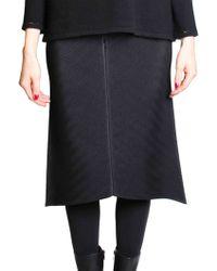 Issey Miyake | Black Pleated Skirt | Lyst