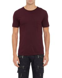 Ralph Lauren Black Label Purple Pocket Tshirt - Lyst