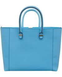 Victoria Beckham - Blue Liberty Leather Bag - Lyst