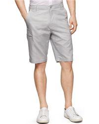 Calvin Klein Linen-Blend Cargo Shorts gray - Lyst
