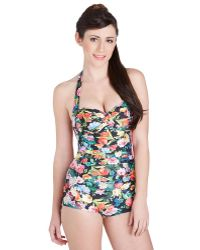 Seafolly Be That As It Bouquet One Piece Swimsuit in Garden - Lyst