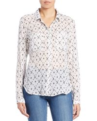 Cloth & Stone - Printed Dot Blouse - Lyst