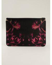 Alexander McQueen Night Flowers Print Clutch - Lyst