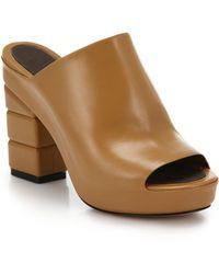 Ferragamo Maiella Block-Heeled Mule Sandals brown - Lyst