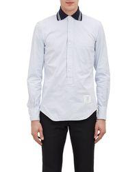Thom Browne Dress-stripe Oxford Henley - Lyst