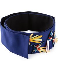 MSGM Beads Embroidered Belt - Lyst