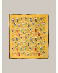 Fornasetti - Cocktail Print Scarf - Lyst