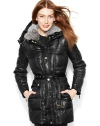Vince Camuto Fauxfurhooded Downblend Parka - Lyst