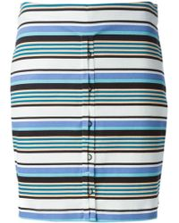 Opening Ceremony Striped Fitted Skirt - Lyst