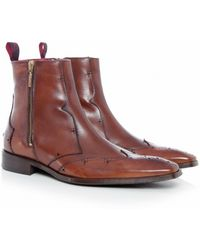 Jeffery West Scarface Chelsea Boots brown - Lyst