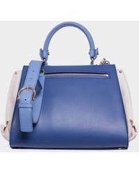 "Ferragamo Three Colour Leather ""Sofia"" Bag blue - Lyst"
