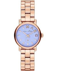 Marc By Marc Jacobs Ladies Rose Goldtone River Satin Dial Baker Watch - Lyst