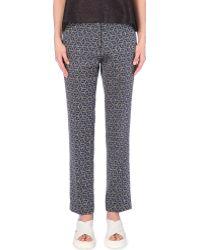 Dries Van Noten Geometric-Print Trousers - For Women - Lyst