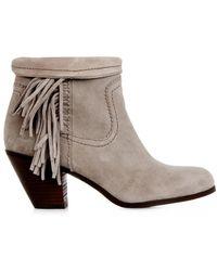 Sam Edelman Louie Suede Ankle Boots - Lyst