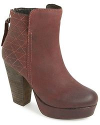 Steve Madden Women'S 'Roadruna' Leather Platform Bootie - Lyst
