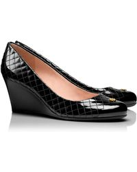Tory Burch Black Kent Wedge - Lyst