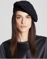 C By Bloomingdale's - Cashmere Cable Knit Beret - Lyst