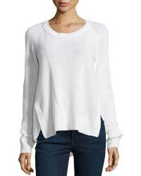 Diane von Furstenberg Combo-Knit Cashmere Sweater - Lyst