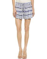 Ella Moss Cortez Mini Shorts - Black blue - Lyst