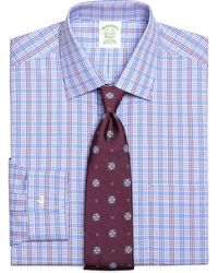 Brooks Brothers Noniron Extraslim Fit Triple Check Dress Shirt - Lyst