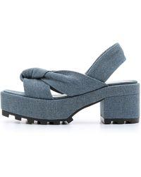 Cheap Monday - Trapped Knot Platform Sandals - Pale Denim - Lyst