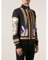 Versace Printed Bomber Jacket - Lyst