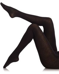 Fogal Cotton And Cashmere Tights black - Lyst