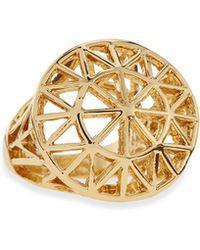 Panacea Golden Sunburst Dome Ring - Lyst