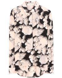 Balenciaga Printed Silk Blouse - Lyst
