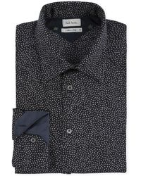 Paul Smith Black Tiny Leaf Print Cashmere-Blend Shirt - Lyst