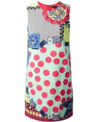 Versace Mix-Print Dress - Lyst